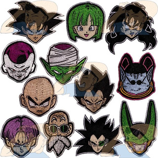 Parche Dragon Ball Z Goku Vegeta Master Roshi X Unidad Adr