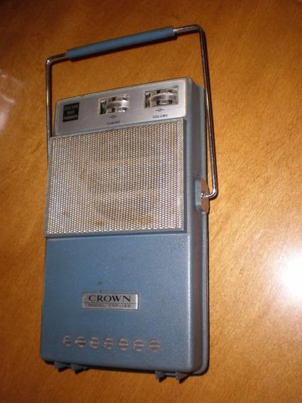 Radio Pasadiscos Crown Trp123 Portátil +d50 Años! Sì Cuotas!