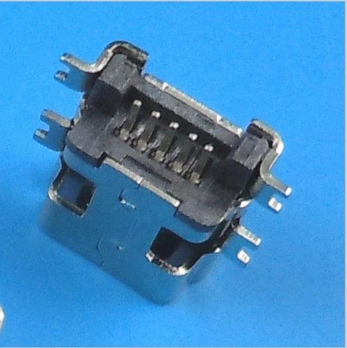 Conector De Carga Jack Mini Usb 5 Pinos (para Gps) Kit 10uni