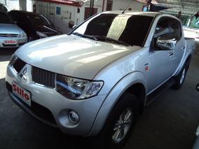 L200 Triton 3.2 Diesel 4x4 Automática 2010 Prata Couro Veja!