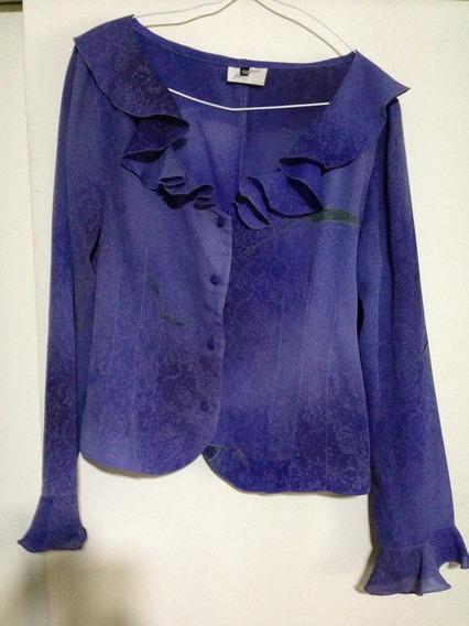 Liquido Importante Camisa Violeta Gasa Volados T 48 De Marc