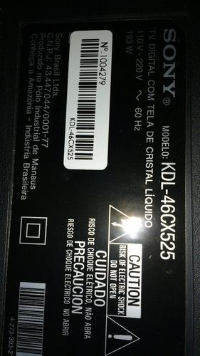 Imagem 1 de 1 de Vendo Placa T Con E Lampadas  Tv Sony Kdl 46cx525