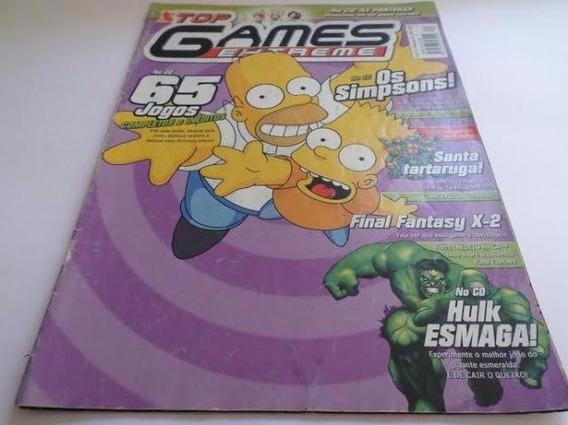 Revista Top Games Extreme Os Simpsons - Raridade