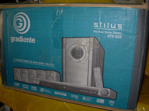 Home Theater Gradiente Hts-520 Pouco Uso. C/ Sub+ 5 Cxs.