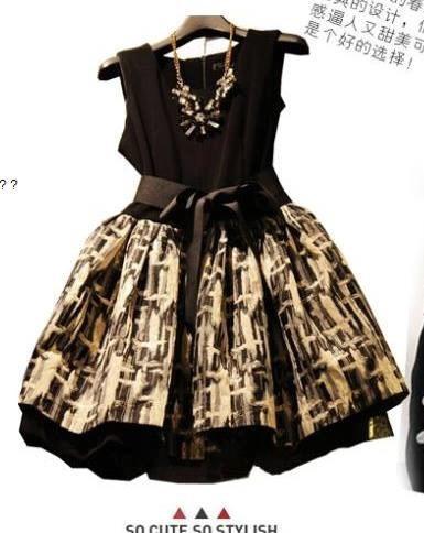 Vestido Importado Preto Saia Dourada - Pronta Entrega