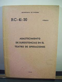 Adp Abastecimiento De Subsistencias En El Teatro Operaciones