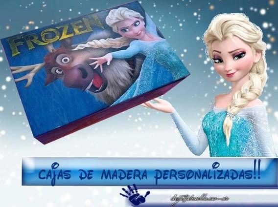 Frozen Caja Personalizada De Madera