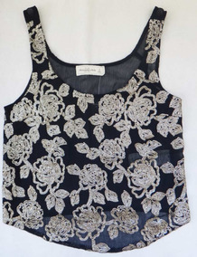 34777d809e Camisa Blusa Bordada Floral Paete Lantejoula Abercrombie