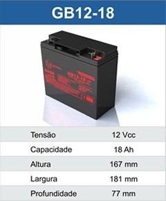 Bateria Selada 12v 18ah Auxiliar De Partida 12v17ah/20hr
