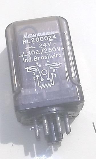 Rele Rl200024 10a 250v 8 Pinos Schrack Para Transmissor Tv