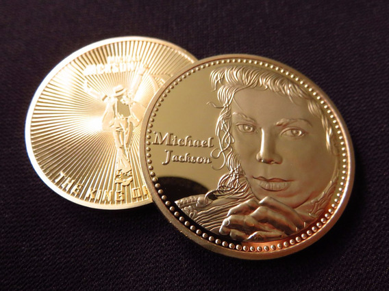 Moneda Medalla Michael Jackson The King Of Pop Color Oro