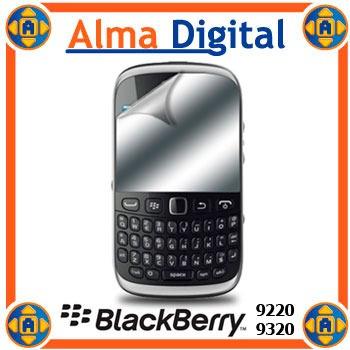 2x Lamina Espejo Pantalla Blackberry Curve 9220/9320 Gemini3