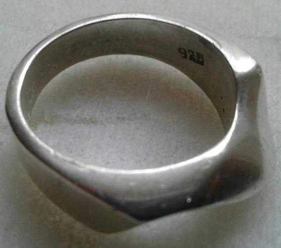 Anel Prata 925 Aro 22 Com Ondas
