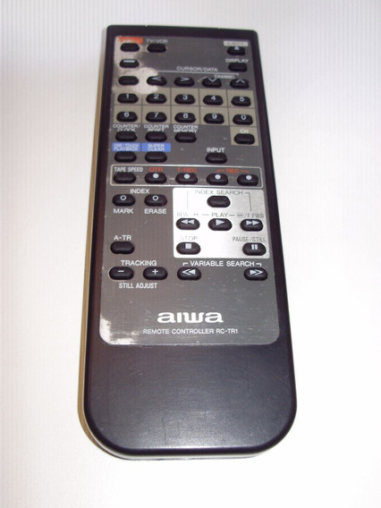 Controle Remoto Tv E Vcr Video K7 Aiwa Rc-tr1 Original
