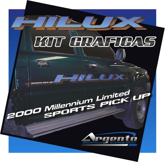 Graficas Laterales Toyota Hilux Limited Milenium Calcos