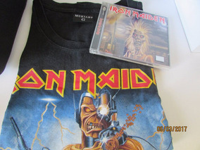 Cd Iron Maiden Combo Camiseta Tam G