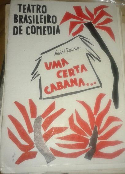 Uma Certa Cabana Tonia Carreira Paulo Autran Progra Teatro