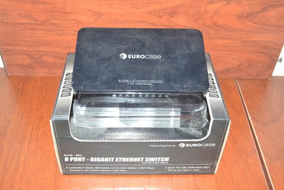 Switch 8 Puertos - Eurocase - 10/100/1000mbps - Eune -8pg