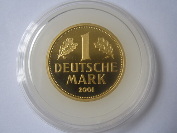 Alemanha Moeda Ouro 1 Deustche Mark 2001 F