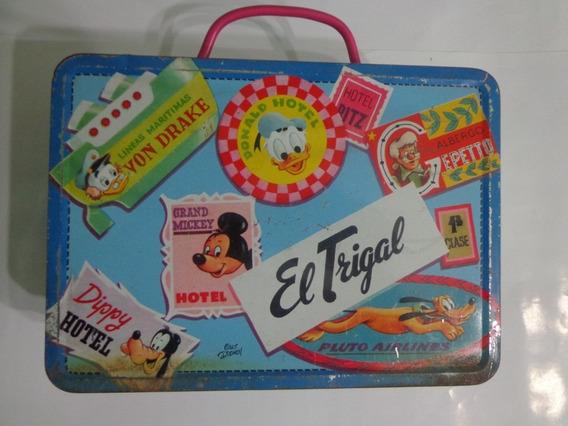 Antigua Lata De Galletitas Con Personajes De Disney