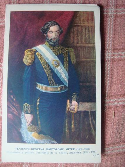 Antigua Tarjeta Postal Gral Bart Mitre Prócer Kapeluz