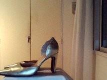 Zapatos De Fiesta Cuero Dorado