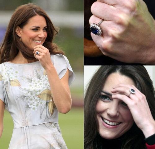 Anillo Swarovski Crystal Princesa Kate Colores Stock Nuevo
