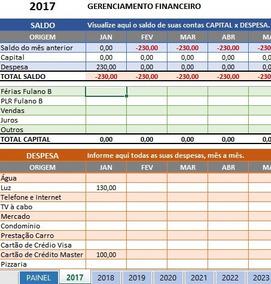 Controle Financeiro (doméstico)