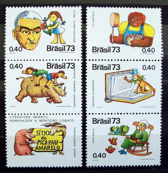 Brasil - Serie Yv. 1065-68 Monteiro Lobato 1973 Mint L3712