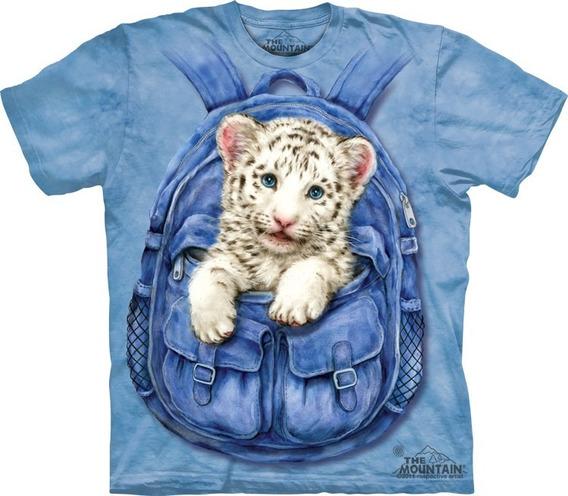 Playera 4d - Unisex Infantiles - 3433 Backpack Tiger.