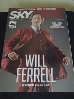 Revista Sky View Will Ferrell Arcade Fire Tom Hanks X-men