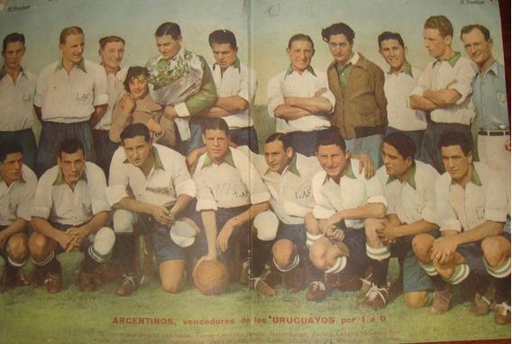 Poster Antiguo De Argentina Vencedor De Los Uruguayos