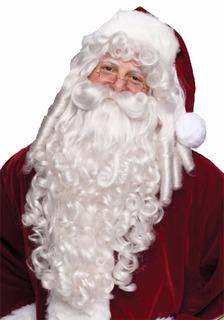 Peluca Barba Bigote Profesional Super Lujo Santa Claus Clos