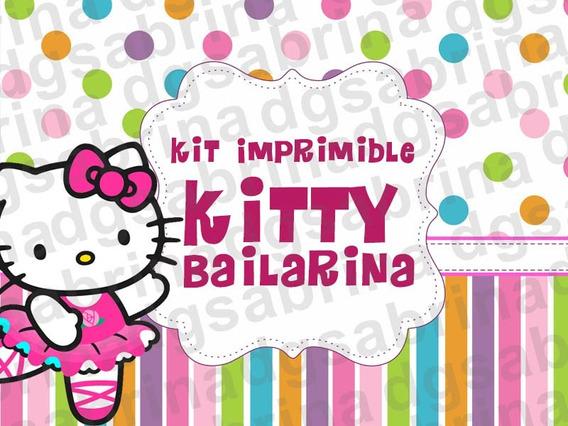 Kit Imprimible Hello Kitty Bailarina, Candybar, Golosinas