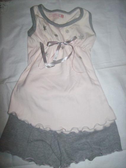 Pijama Rosa Y Gris Con Estrellitas Yamp Falabella