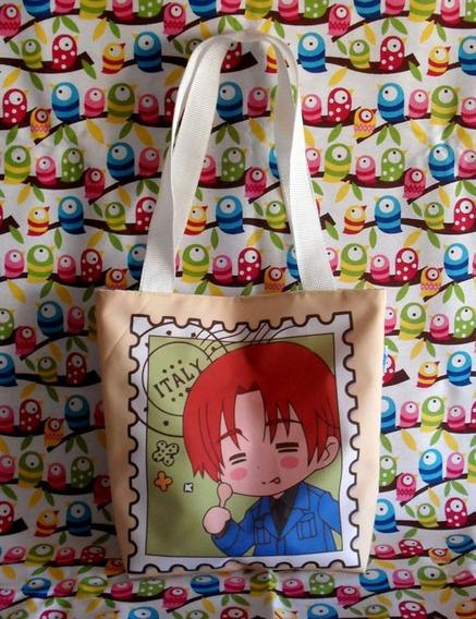 Mini Tote Bag Cartera De Anime Hetalia Italia Cute