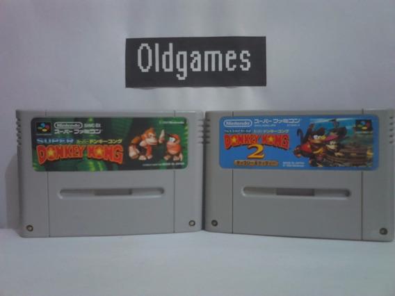 Donkey Kong 1 E 2 - Super Famicom Originais Japonesas