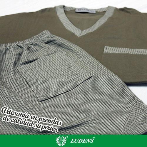 Art874 Pijama Jersey Pantalón Cuadrille Corto - Ludens