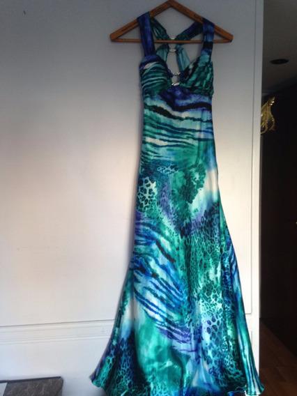 Vestido De Fiesta Exclusivo De Seda Importada Usa !!!!