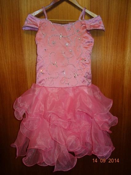 Hermoso Vestido De Fiesta De Adolescente Bordado!!!!!!