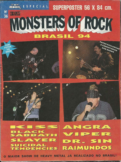 Revista-poster,monsters Of Rock,kiss,black Sabbath,angra,vip