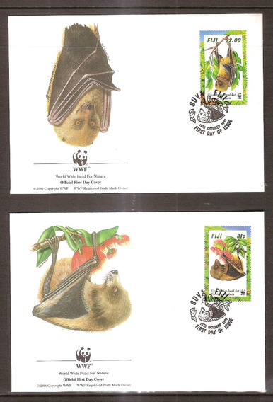 # Mcn # Fiji 1997 - Morcegos / Wwf - 4x Fdc