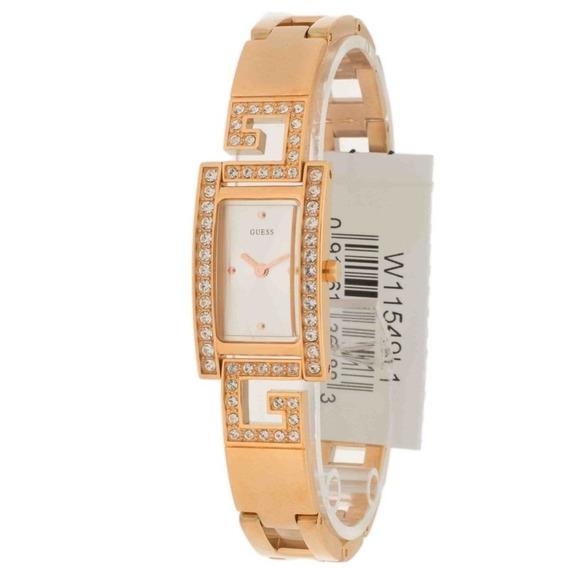Relogio Guess Feminino W11549l1 Strass Bracelete Original