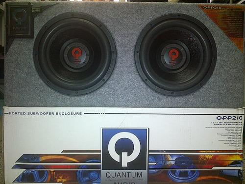 Imagen 1 de 2 de Quantum Audio Cajon Doble 10  Original Ventilado Nuevos!!!
