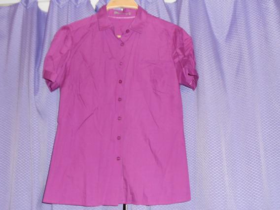 Camisa M/c Color Violeta Obispo Yagmour Talle 42