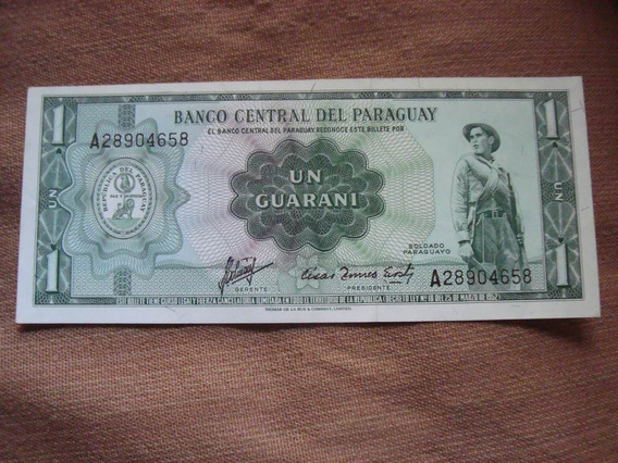 Billete Paraguay. 1 Guaraní. Sin Circular. Seria A.
