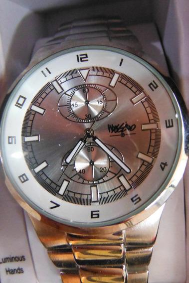 Elegante Reloj Mossimo Metallico Plateado Watch Silver