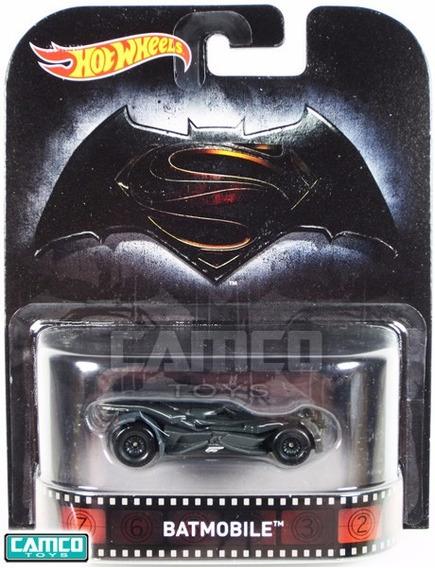 Miniatura Batmovel Batman X Superman Hot Wheels Retro Novo !