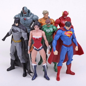 Liga Da Justiça Superman Batman Mulher Maravilha Kit 4 Pçs