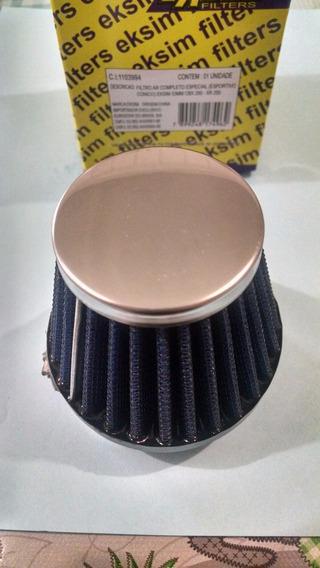 Filtro De Ar Competiçao Esportivo 45mm Cg Titan Fan 150 Ybr